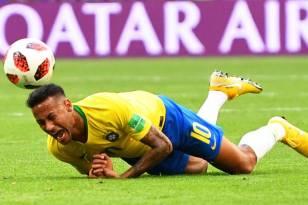 Neymar caido